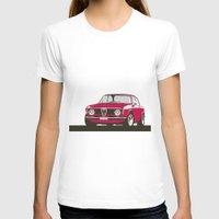 gta T-shirts featuring Alfa Romeo Giulia Sprint 1600 GTA. by Graphic Deluxe