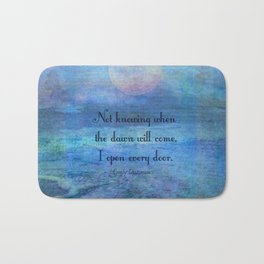 Emily Dickinson hope quote Bath Mat