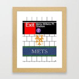 NYC Mets Subway Framed Art Print