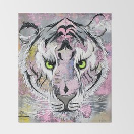"""Tiger Tiger"" Throw Blanket"