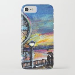 Downtown Seattle sunset iPhone Case