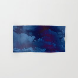 Clouds in a Stormy Blue Midnight Sky Hand & Bath Towel