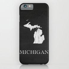 Michigan State Map Chalk Drawing Slim Case iPhone 6