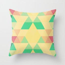 Triangles::Retro Throw Pillow