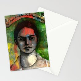 Wings to Fly, a portrait of Frida Kahlo Stationery Cards