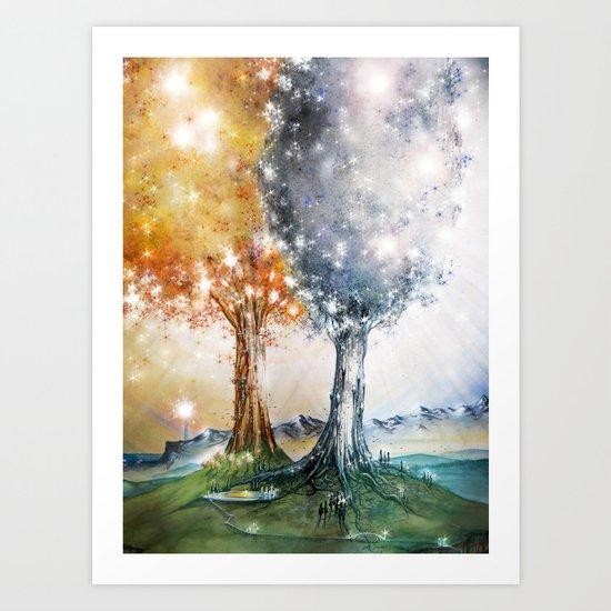 Ezellohar Trees Art Print