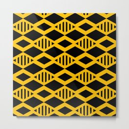 Black and Yellow geometric background #society6 #decor #buyart #artprint Metal Print