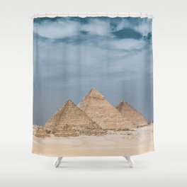Giza Pyramid Complex Shower Curtain