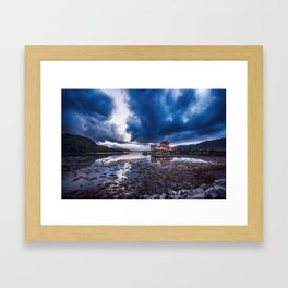 Dark Skies at Eilean Donan Castle Framed Art Print