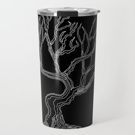 Tree 03 Inverse, One Liner Travel Mug