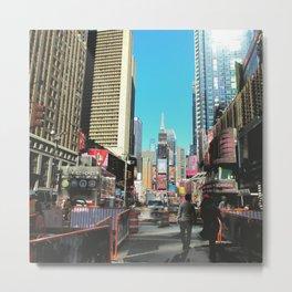 New York Bright Metal Print