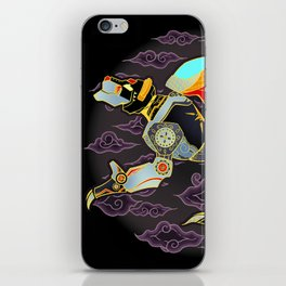 Black Lion Batik iPhone Skin