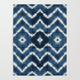 Shibori, tie dye, chevron print Poster