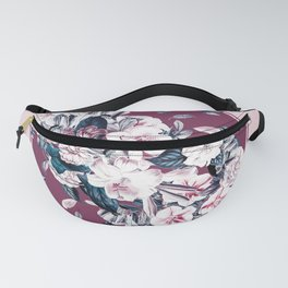Vulture and Floral Fanny Pack