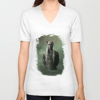 thranduil V-neck T-shirts featuring The Great King Thranduil by LindaMarieAnson