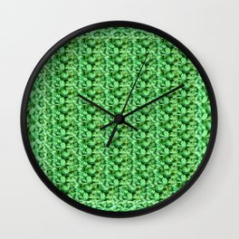 Round and round clovers Wall Clock