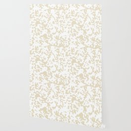 Spots - White and Pearl Brown Wallpaper