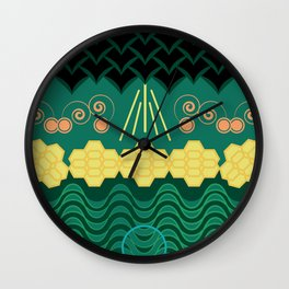 Rainforest HARMONY pattern Wall Clock