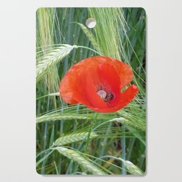 The Red Poppy in the Field Cutting Board