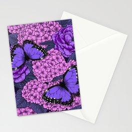 Blue morpho garden 2 Stationery Cards