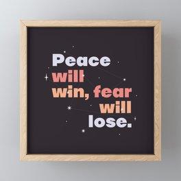 peace > fear Framed Mini Art Print