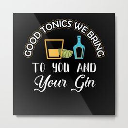 Gin Alcohol Party Drinking Metal Print