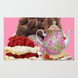 PINK CHOCOLATE & STRAWBERRY TEA TIME Rug