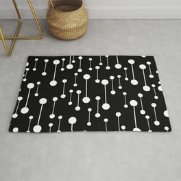 Perfectly Balanced In Black And White Rug