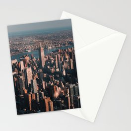 Empire State Building seen from a plane Stationery Cards