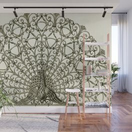Maurice Pillard Verneuil - Paon, grille fer forgé Wall Mural