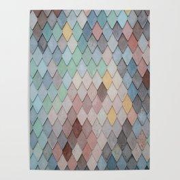 Multicolor Illustration, Wall Clock, Pillows, Mugs, Bath Mat, iPhone Case Poster