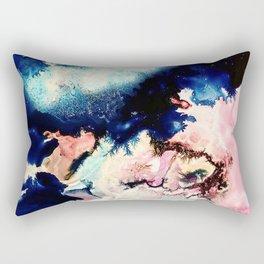 Marbled Galaxy Cells Rectangular Pillow