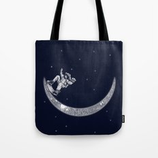 Skate in space Tote Bag