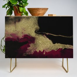 Black Honey - resin abstract painting Credenza