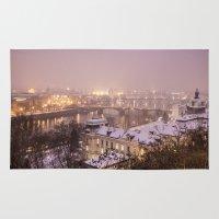 prague Area & Throw Rugs featuring Prague 3 by Veronika