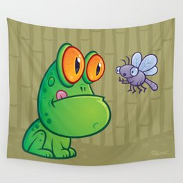 Frog and Dragonfly Wall Tapestry