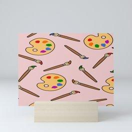 paintbrush and palette Mini Art Print