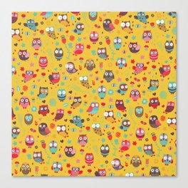 Happy owls Canvas Print