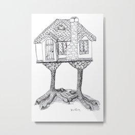 Baba Yaga's House Metal Print