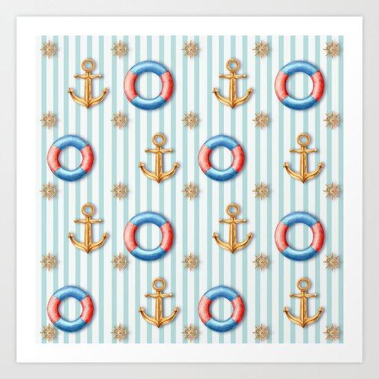 sea day Art Print