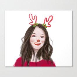 Christmas girl Canvas Print
