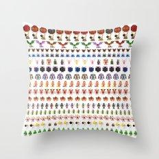 Clash of Pixels Throw Pillow