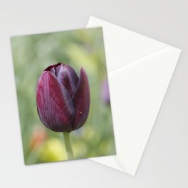 Deep purple tulip Stationery Cards