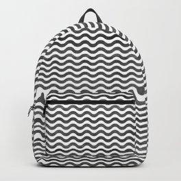 Geometrical hand painted watercolor black chevron Backpack