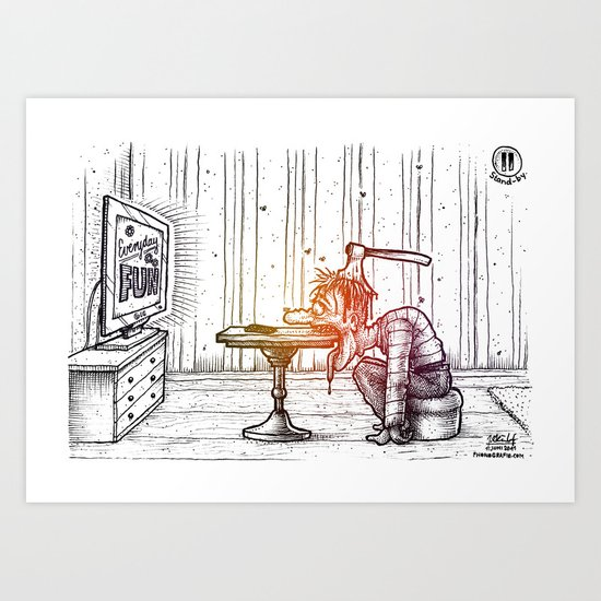 Everyday fun Art Print