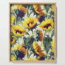 Sunflowers Forever Serving Tray