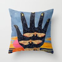 moth Throw Pillows featuring Moth by Dawn Patel Art
