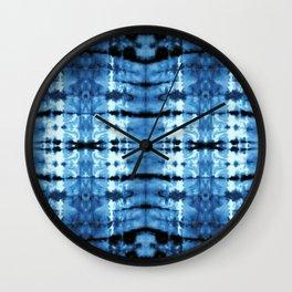 Indigo Satin Shibori Wall Clock