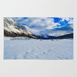 Medicine Lake in Jasper National Park, Canada Rug