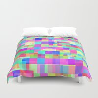 tetris Duvet Covers featuring Overlapping Tetris  by Saif Chowdhury